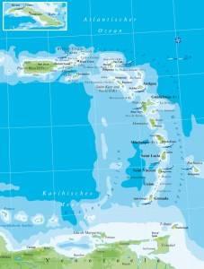 Karibikkarte