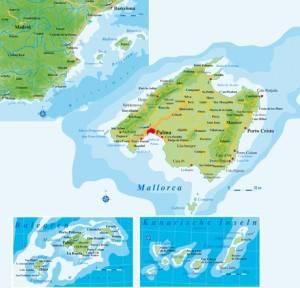 Spanienkarte